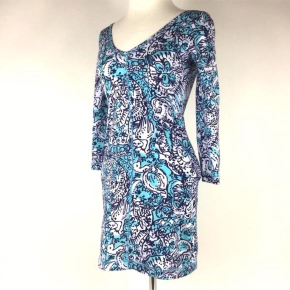 93288e1006d25 Lilly Pulitzer Dresses & Skirts - LILLY PULITZER 100% Pima Bird Long Sleeve  Dress